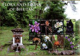 BHOUTAN Fleurs/Faune 2014 8v  Neuf ** MNH - Bhoutan