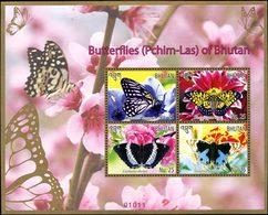 BHOUTAN Papillons 2014 (Pchim-las)4v Neuf ** MNH - Bhután