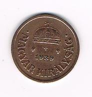 //  HONGARIJE  2  FILLER  1939 BP - Hongrie