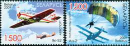 BIELORUSSIE Aviation -Parachutisme 2v 2009 Neuf ** MNH - Bielorrusia