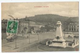 CPA [42] Loire > Saint Etienne - Le Lycée Et Monument Aux Morts - Saint Etienne