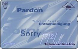 """TWK Österreich Werbekarte: """"Pardon-Sorry - 106E"""" Gebr. - Oesterreich"""