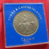 Turks And Caicos 1 Crown 1969 - Turks En Caicoseilanden