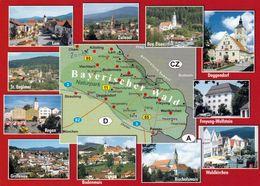 1 Map Of Germany * 1 Ansichtskarte Mit Der Landkarte - Bayerischer Wald* - Landkarten