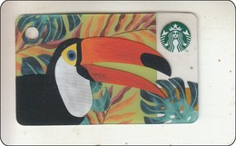 Thailand Starbucks Card Toucan Bird  2017 - 6151 - Gift Cards