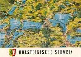 1 Map Of Germany * 1 Ansichtskarte Mit Der Landkarte - Die Holsteinische Schweiz * - Landkarten