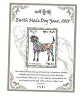 Bhutan 2018 Earth Male Dog Year S/S MNH - Bhoutan