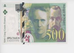 Cinq Cents Francs  - Banque De France (spécimen) Cp Vierge éd BDM - Monnaies (représentations)