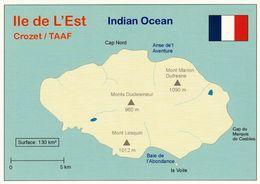 1 MAP Of Ile De L'Est - Zu Den Crozet Inseln TAAF * - Die Ile De L'Est (Insel Des Osten) Liegt Im Indischen Ozean * - Landkarten