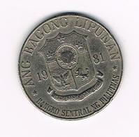 //  PILIPINAS  1  PISO  1981 - Philippines