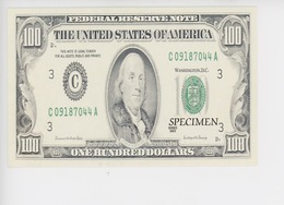 One Hundred Dollars - The United States Of America (cp Vierge éd BDM) - Monnaies (représentations)