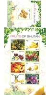 Bhutan 2017 Fruits Sheet And S/S MNH - Bhoutan