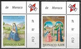 Monaco 3112/14 Nativité, Vatican - Religión