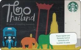 Thailand Starbucks Card Thailand 20 Year SBX 2018 - 6154 Elefant Temple - Gift Cards