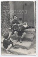 PHOTO FORMAT CP ENFANTS JOURNAL    - Z-801 - Personnes Anonymes