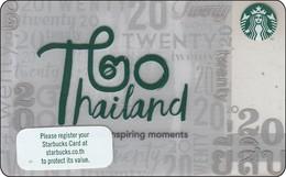 Thailand Starbucks Card Thailand 20 Year SBX 2018 - 6154 - Gift Cards