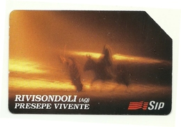 Italia - Tessera Telefonica Da 10.000 Lire N. 274 - 30/06/95 Presepe Vivente - Natale
