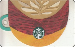 Thailand Starbucks Card Latte Art Coffee Cup 2  2018 - 6154 - Gift Cards