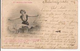 L60A088 - Carte Humoristique - Histoire D'un Crabe N°3-  Jeune Femme Dans Les Flots, Seins - Bergeret - Carte Précurseur - Bergeret