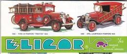 ELICOR , Petit Catalogue,depliant De Voitures,pompiers,police,ambulances Et Divers (lot 36) - Andere Verzamelingen