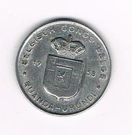 //  BELGISCH CONGO   BELGE - RUANDA  URUNDI   1 FRANC  1958 - Congo (Belge) & Ruanda-Urundi