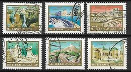 LIBAN    -    Poste Aérienne   -   Sites Archéologiques.   Oblitérés - Liban