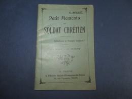 PETIT MEMENTO DU SOLDAT CHRETIEN,complet 64 Pages (lot 37) - Religión & Esoterismo