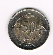 //  TURKIJE  50 YERI KURUS 2009 - Turquie