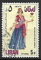LIBAN    -    Poste Aérienne   -   Costume Féminin.   Oblitéré - Liban