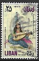 LIBAN    -    Poste Aérienne   -   Costume Féminin  /  Musique.   Oblitéré - Liban