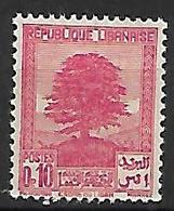 GRAND LIBAN    -    1937 .  Y&T N° 150 *.   Cèdre - Great Lebanon (1924-1945)