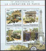 Togo  2014 Charles De GAULLE Sir Winston CHURCHILL Tour Eiffel Arc De Triomphe   MNH - De Gaulle (Generale)