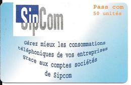 CARTE PREPAYEE-TOGO-50U-SIP COM-SC7-PASS.COM-Gratte-TBE - Togo
