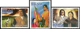 BOLIVIE Tupac Katari / B.Sisa / Révolution 3v Neuf ** MNH - Bolivie