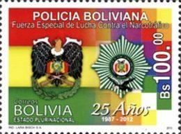 BOLIVIE Police Antinarcotique 1v 13 Neuf ** MNH - Bolivie