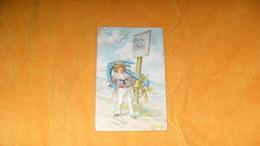 CARTE POSTALE ANCIENNE CIRCULEE DE 1906../ BONNE ANNEE..SCENE ENFANT MARIN ANCRE PAYSAGE..CACHET + TIMBRE - Nouvel An