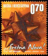 BOSNIE CROATE Noël, Décoration 1v Neuf ** MNH - Bosnië En Herzegovina