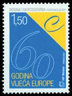 BOSNIE CROATE 60ans Conseil De L'Europe 1v Neuf ** MNH - Bosnie-Herzegovine