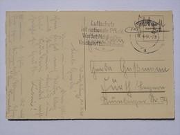 1940 DR Postkarte Feldpost Pmk Luftschutz Ist Nationale Pflicht - Briefe U. Dokumente
