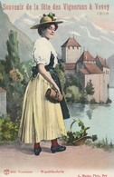 VD Vaud : VEVEY : Souvenir De La Féte Des Vignerons à Vevey 1905 - Vaudoise En Costume - Waadtlanderin ( Folklore ) - VD Vaud