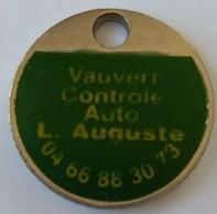 Jeton De Caddie - Vauvert - Contrôle Auto - L. Auguste   - En Métal - - Trolley Token/Shopping Trolley Chip