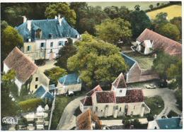 NOHANT (36.Indre) Château De Georges Sand. L'Eglise. Vue Aérienne - Autres Communes