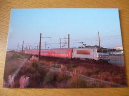 FRONTIGNAN (34) : BB 7214 Train CERBERE - AVIGNON En Septembre 2014 - Détails 2ème Scan - Trenes