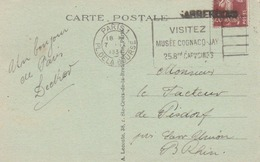 Griffe De Sarrebourg En Annulation D'un TP En Arrivée. - Handstempels