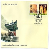 Indian Edition Of India Korea Joint Issue Stamps On FDC - Corea Del Norte