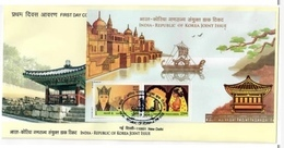 Indian Edition Of India Korea Joint Issue Ms On FDC - Emisiones Comunes