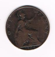 //  GREAT BRITAIN  1 PENNY 1904  EDWARDVS VII - 1902-1971 : Monnaies Post-Victoriennes
