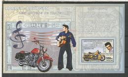 BURUNDI ELVIS PRESLEY MUSICA ROCK HARLEY DAVIDSON MOTO MOTORCYCLE SIN DENTAR IMPERFORATE - Motorfietsen
