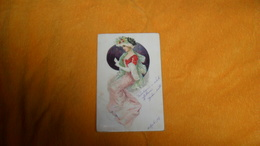 CARTE POSTALE ANCIENNE CIRCULEE DE 1907../ ILLUSTRATEUR  ?..FEMME ELEGANTE...CACHETS + TIMBRE - Illustrators & Photographers