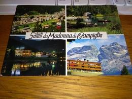 147487 CARTOLINA CON FUNIVIA  SALUTI DA MADONNA DI CAMPIGLIO - Trento